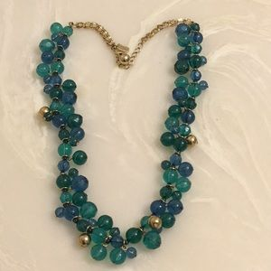 Beautiful blue, green and gold necklace